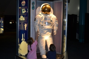We checked out the space suits and how they've changed through the years.
