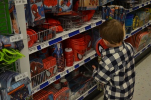 Finding Spiderman stuff was easy.