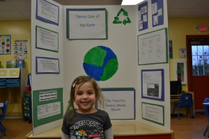 Tonight we had our science fair.  In my class room we learnt all about how to look after the Earth.