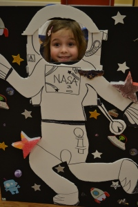 Rafa's class was all about outer space.