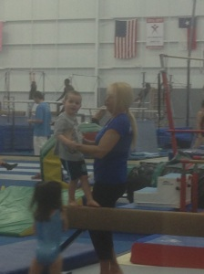 Guess who got through an entire gymnastics class without Mum having to come onto the floor?