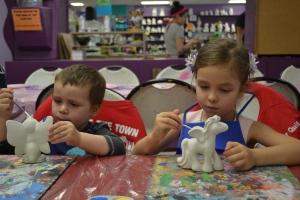 Which is this really cool place where we get to paint a ceramic  animals and things
