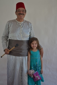 The Festival was recommended to us by one of Rafa's friend's family - we found Talal's grandpa all dressed up in traditional dress!