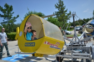We enjoyed some of last year's favourites such as the train and helicopter rides, bounce house and carousel.