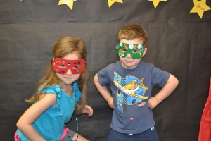 And got to take home our custom designed Superhero masks.