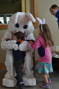 Today we met the Easter Bunny at our local Bunny Hop!
