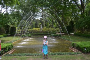 And many of the gardens are like formal rooms with fountains