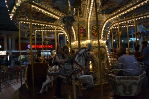We did some of our old favourite things, such as the carousel ride