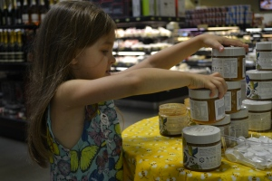 The girls were at Phoenicia sampling honey