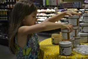 The girls were at Phoenicia sampling honey