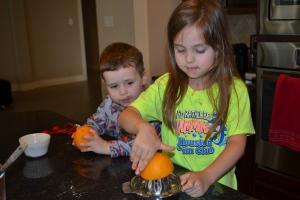 Orange juice and zest instead of refresh.