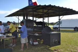 Celebrating Texan style with a HUMONGOUS BBQ.
