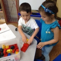 We had special visitors today who brought lots of bricks for us to play with.