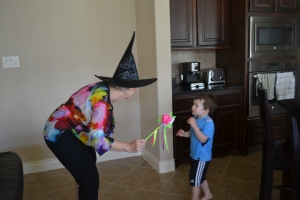 Playing 'who's afraid of the witch?' Not me!