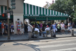 First stop, the famous Cafe Du Monde