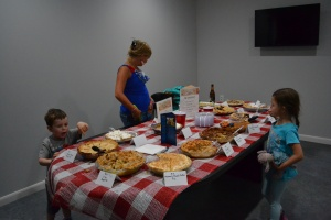And a pie baking contest where we all got to be judges!