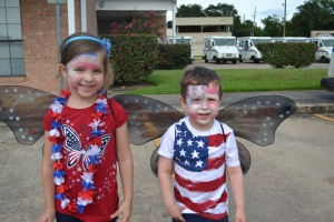 We were butterflies today representing Fulshear Parks in the Fulshear July 4th Parade.