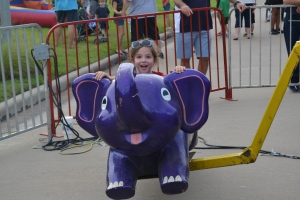 Ana thought the flying purple elephant was the best thing she'd seen all night.