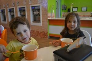 And a BIG bowl of frozen Orange Leaf yoghurt.