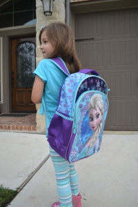 And this morning I was up and ready early with my new back pack and lunch bag.