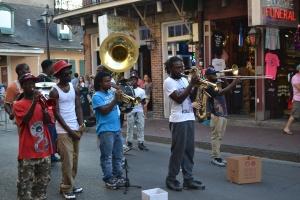 Busking band on Bourbon St