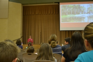 There was a great presentation by Kathi Appelt, author of True Blue Scouts of Sugar Man Swamp. She talked about the process of writing the story and how she became a writer.