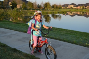 Bike to school day was pretty easy for me since it's routine.