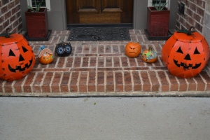 and a growing pumpkin population at our front door.