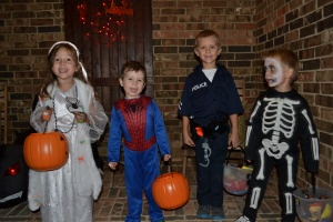 then we were off trick or treating.