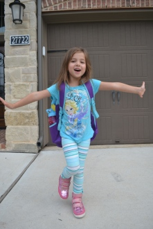 This was me last fall, ready for my first day in big kid school.