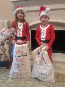 Christmas day Santa sacks