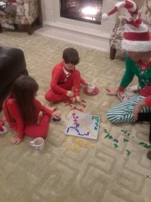 Christmas playing Blokus