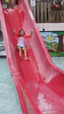 yogi bear Ana on slide
